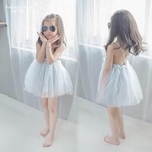 202wj中(小)女童条cw透气舒适公主裙子连衣裙吊带裙沙滩裙度假裙