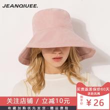 JEAwkQIUEEwc女夏天遮阳帽韩款百搭防晒帽出游沙滩帽盆帽