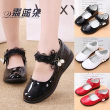 [wmara]女童皮鞋黑色公主鞋小学生