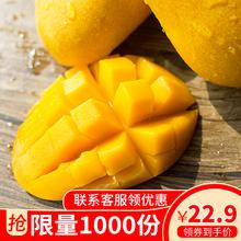 迷你(小)wm芒百色台农cn心芒(小)核超甜热带水果10斤整箱包邮