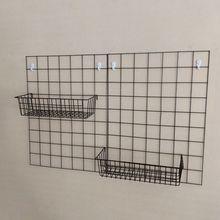 网格照wn墙挂篮(小)挂jh篮子方架展示架上挂篮托盘置物