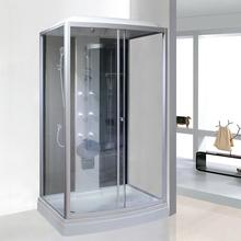 长方形wo体淋浴房家an玻璃浴室洗澡间一体式卫生间封闭式隔断
