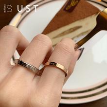 男女钛wo戒指冷淡风ng众设计学生dw情侣饰品时尚ins食指环潮