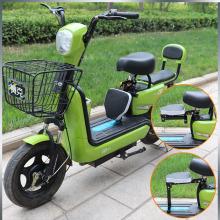 电动车wo童前置折叠ng板车电瓶车带娃(小)孩宝宝婴儿电车坐椅凳