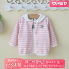 0一1wo3岁婴儿(小)ia童女宝宝秋装外套韩款开衫幼儿春秋洋气衣服