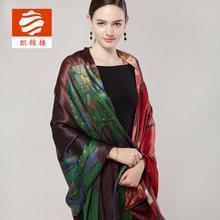 织锦楼wo巾夏季女士ia巾桑蚕丝空调房围巾杭州丝绸大披肩礼品