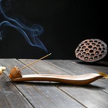 线创意wo瓷沉檀香插ia熏炉仿古家用禅意摆件香座茶道室内