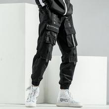 白糖玫wo/20韩款wo牌束脚机能工装裤男秋季潮流休闲裤宽松ins