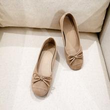 豆豆鞋wo020春季iu底春式女鞋蝴蝶结单鞋平底浅口一脚蹬瓢鞋子