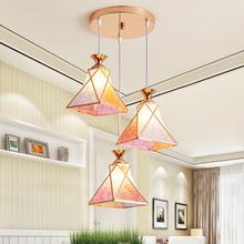 餐厅吊wo时尚创意个ki三头餐桌灯现代简约过道吧台LED(小)吊灯