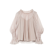 Deswogner kss 2021春装韩款喇叭袖超仙雪纺衫上衣女+吊带两件套