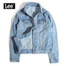 Leewo装春秋女士ld仔夹克百搭修身显瘦短外套L374143HH9SN