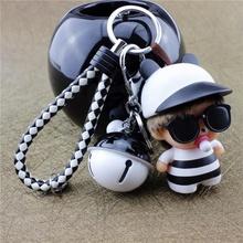 可爱卡通蒙wo2奇钥匙链ld钥匙扣女士男式汽车钥匙圈包包挂件
