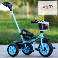1 2wo3 4岁儿th子脚踩三轮车宝宝手推车(小)孩子自行车可骑玩具