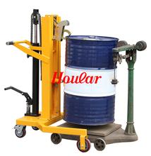 手动油wo搬运车脚踏th车铁桶塑料桶两用鹰嘴手推车油桶装卸车