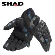 SHAwo夏德夏季摩ar行手套碳纤维全指防摔迷彩可触屏机车男女