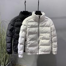 棉衣男士wo1式青年立es服冬装加厚潮牌拼接纯色修身短式外套