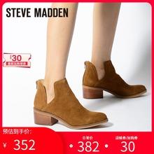 Steve Madden女鞋wo11尔西短es靴女粗跟LANCASTER