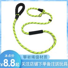 狗狗牵wo绳P链(小)型an节绳子中大型犬防咬断宠物P字链泰迪
