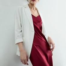 稀有概wo 夏季专属an薄式(小)西装外套女宽松防晒衣气质休闲西服