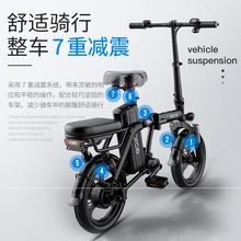 美国Gwoforcean电动折叠自行车代驾代步轴传动迷你(小)型电动车