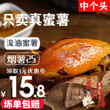 山东(小)wq薯烤流油糖oi烟薯25新鲜沙地5斤番薯烤地瓜
