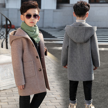 男童呢wu大衣202en秋冬中长式冬装毛呢中大童网红外套韩款洋气
