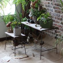 觅点 wu艺(小)花架组en架 室内阳台花园复古做旧装饰品杂货摆件