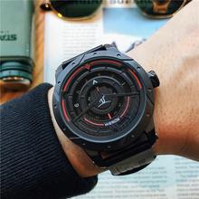 手表男wu生韩款简约de闲运动防水电子表正品石英时尚男士手表