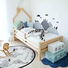 inswu式网红木架de宝宝床幼儿园样板间宝宝床成的床松木