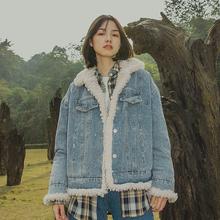 靴下物wu创女装羊羔de衣女韩款加绒加厚2020冬季新式棉衣外套