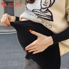 孕妇打wu裤秋冬季外de加厚裤裙假两件孕妇裤子冬季潮妈时尚式