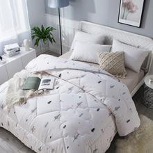 新疆棉wu被双的冬被de絮褥子加厚保暖被子单的春秋纯棉垫被芯