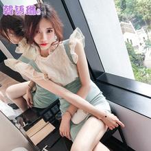 韩语琳吊带连衣裙2wu620秋季de短裙性感背带裙修身包臀裙子