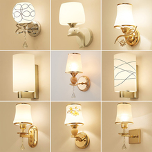 壁灯现wu简约LEDde室床头灯美式欧式楼梯过道酒店工程墙壁灯