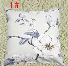 全棉老wu布抱枕套不de做汽车沙发靠垫方形客厅床头30 35帆布