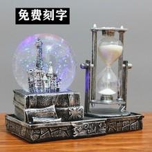 水晶球wu乐盒八音盒de创意沙漏生日礼物送男女生老师同学朋友