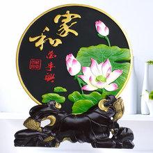 创意家wu工艺竹炭雕de客厅玄关博古架(小)摆件乔迁新家定制礼物