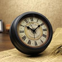美款客厅座wu2欧款复古ob(小)时钟创意钟表(小)型桌面摆件台款表