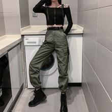 [wwqt]工装裤配上衣服朋克帅气女
