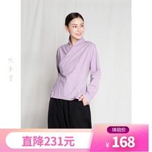 体验式ww本堂棉麻禅et服斜襟系带居家服中式上衣女W1359
