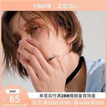 情侣套装戒指男ww4日款轻奢oo个性潮的学生简约关节食指指环