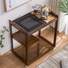 家用一wx简约侧边柜66可移动茶台移动茶车套装省空间棋牌室