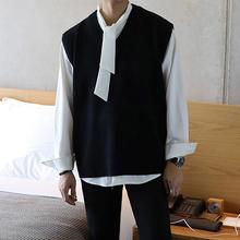 很仙的衬衣贵族感(小)领结衬wy9男长袖四y2质心机设计感衬衣
