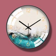 北欧个wy轻奢创意时no表挂钟现代简约客厅欧式静音石英钟时钟