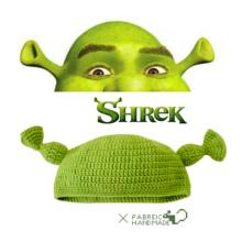 怪物史莱克wy手工编织针ok绿色帽子cos可爱卡通男女秋冬帽子