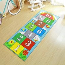 跳房子wy童地毯跳方ok跳格子数字垫公主宝宝房游戏地垫可机洗