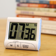 家用大wy幕厨房电子uk表智能学生时间提醒器闹钟大音量
