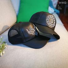 棒球帽wz生春夏季皮zb鸭舌帽个性潮式男生明星同式帽子
