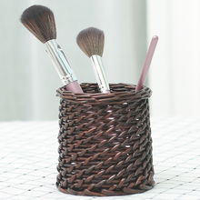 六月生x0编圆形创意29爱笔筒桌面简约复古中国风个性笔筒编织